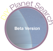 DIY Planet Search  logo/button